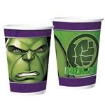 Copo de Papel Hulk Animação C/8 - Regina
