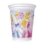 Copo de Plástico 200ml Princesas Glamour C/ 08 Unidades