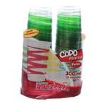 Copo de Plástico Descartável Mania Festa Verde 300ml Pacote com 30 Unidades Prafesta