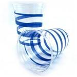 Copo Plástico 300 Ml Prafesta Mania Azul- 30 Unidades