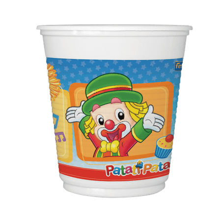 Copo Plástico Descartável Patati Patata - 08 Unidades