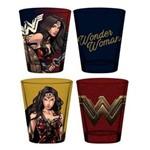 Copos Shot Wonder Woman / Mulher-maravilha (set com 4) - Dc Comics