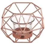 Copper Line Suporte Vela 13cm Cobre