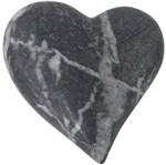 Coração Decorativo em Cerâmica Cinza Marble Grande Urban