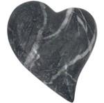 Coração Decorativo em Cerâmica Cinza Marble Pequeno Urban