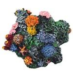 Coral com Toca Decoração Grande Enfeite para Aquário.