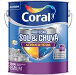 Coral Sol & Chuva Acrílico Total Premium 3,6 Litros Branco Neve