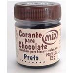Corante em Pasta para Chocolate Preto 12g - Mix