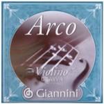 Corda Gevva2 Série Arco em Aço para Violino 2ª Corda Giannini Cinza Aço
