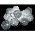 Cordão de Fio Led 20 Lâmpadas 3,8 M - Branco Frio