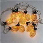 Cordão de Luz Abacaxi Metálico M&c Dourado