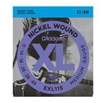 Cordas P/ Guitarra Daddario Nickel EXL115B 011/049
