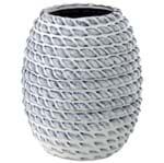 Cordas Vaso 19 Cm Azul/branco
