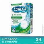 Corega Tabs 3 Minutos Limpador de Dentaduras C/24 Cpr Eferv