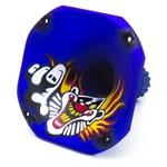 Corneta Fiamon Curta Lc-1450 Metalizada Palhaço Azul Fosco