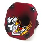 Corneta Fiamon Curta Lc-1450 Metalizada Palhaço Vermelho Fosco
