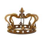 Coroa 3d Realeza em Mdf Cru Decoração de Festa