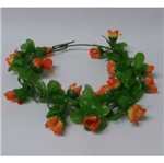 Coroa de Flores em Tecido Laranja