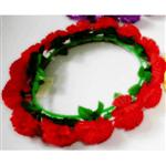 Coroa de Flores em Tecido Vermelha