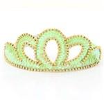 Coroa Lantejoula Princesa - Verde Limão