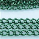 Corrente Alumínio Verde Musgo 5x7mm 1 Metro