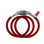 Corrente Cadeado para Bicicleta Trava Flexível com Segredo Vermelho