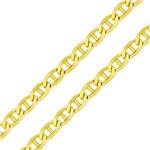Corrente em Ouro 18k Groumet Palitinho com Co01150 Ouro Amarelo 50cm
