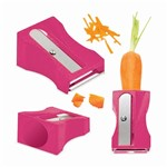 Cortador de Legumes Apontador Rosa Basic Kitchen