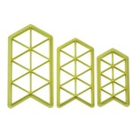 Cortador Geometrico Triangulo C/ 3 Pcs