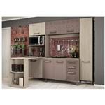 Cozinha Compacta 07 Portas com Bancada Amêndoa/moka//azulejo - Kappesberg