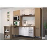 Cozinha Compacta 07 Portas com Bancada Nature/branco/azulejo - Kappesberg