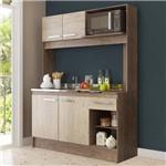 Cozinha Compacta 4 Portas 1 Gaveta 7070 Freijó/Acácia - Decibal Móveis