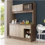 Cozinha Compacta 4 Portas 1 Gaveta New Delta Decibal Freijó/Acácia