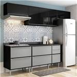 Cozinha Compacta 5 Peças 2826 Miami – Multimóveis - Preto / Cinza