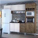 Cozinha Compacta 8 Portas 3 Gavetas Yasmin 0421t Demolição/Gelo 3d