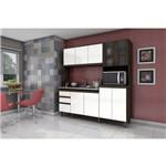 Cozinha Compacta Briz - Café/branco