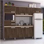 Cozinha Compacta com Tampo 7 Portas 2 Gavetas Jasmine Siena Móveis Fendi/Moka