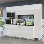 Cozinha Compacta Genialflex Alice Branca com Tampo
