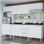 Cozinha Compacta Genialflex Bianca Branco Brilho com Tampo