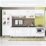 Cozinha Compacta Genialflex Emanuella Branco Brilho com Tampo
