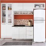 Cozinha Compacta Genialflex Heloisa Branco Brilho com Tampo