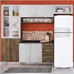 Cozinha Compacta Genialflex Heloisa Demolição e Gelo 3D com Tampo