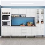 Cozinha Compacta Genialflex Rafaela Branco Brilho com Tampo