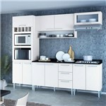 Cozinha Compacta Genialflex Stella Branco Brilho com Tampo
