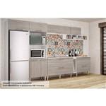 Cozinha Completa Art In Móveis Mia Coccina C/ 10 Peças CZ43 - Cor Branco C/ Fresno