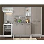 Cozinha Completa Compacta Xangai 9 Portas Ref. 2840.892 Branco/ Lacca Fumê Multimóveis