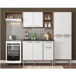 Cozinha Completa Compacta Xangai 9 Portas Ref. 2840.935 Nogueira/branco Multimóveis