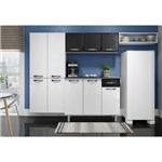 Cozinha Completa em Aço Rubi Smart 4 Peças 10 Pt Balcão Paneleiro Aéreo Nicho Branco/preto - Telasul