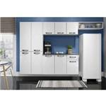 Cozinha Completa em Aço Rubi Smart 4 Peças Balcão Suspenso Paneleiro Aéreo Nicho Branco - Telasul