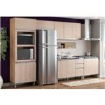 Cozinha Henn Integra 6 Peças (Paneleiro+ 2 Armários+ Painel Coz+ 2 Balcões S/Tampo)Rústico/Fendi